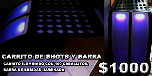 Carrito de shots cazafiestas luz y sonido en guadalajara dj para fiestas - Carrito bebidas ...